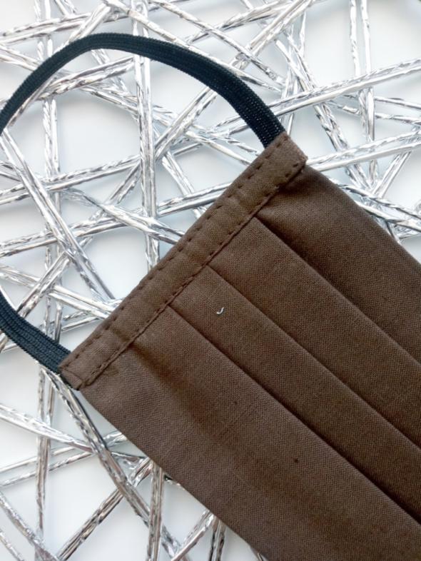 Maseczka brązowa ochronna bawełniana z certyfikatem