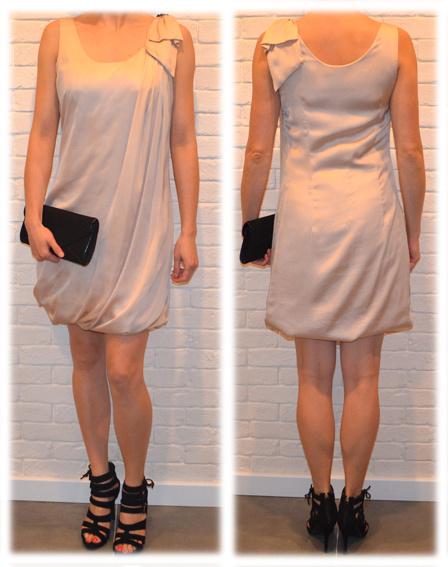sukienka bezowa H&M rozmiar S...