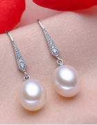 Nowe srebrne kolczyki z prawdziwymi białymi perłami srebro 925 ...