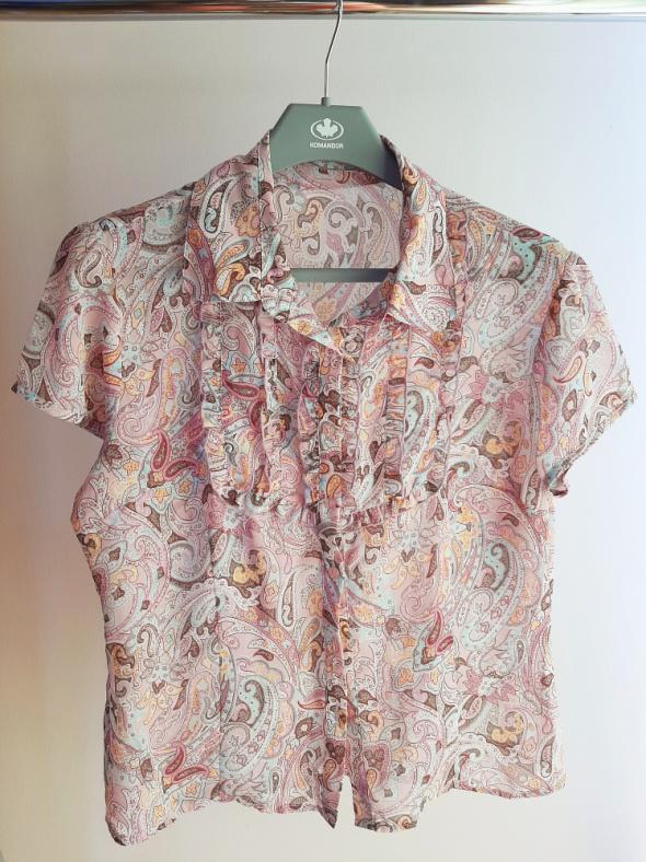 Bluzki Koszula mgiełka z żabotem
