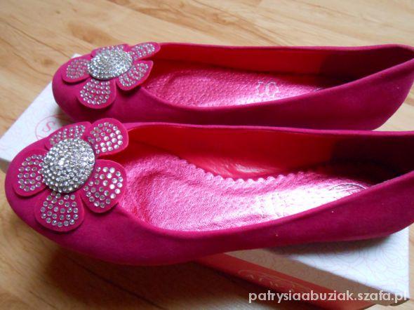 różowe balerinki 37...