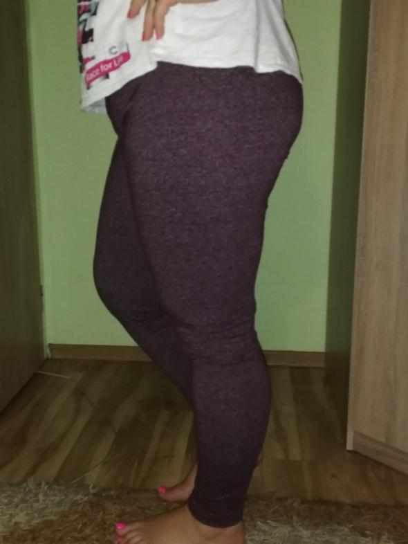 Sportowe legginsy bordowe melanż Atmosphere 42...