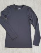Czarna koszulka do biegania Fitness...