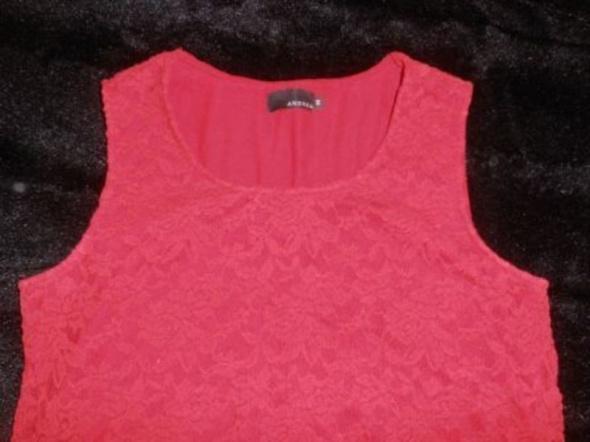 Czerwona bluzka koronkowa 38