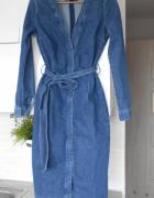 Reserved jeansowa sukienka midi jeans retro...