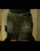 spódnica kowbojska z ćwiekami i frędzlami spódnica dla kowbojki...