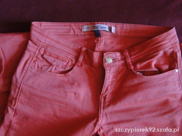 Pomarańczowe modne spodnie ZARA TRF 34 XS