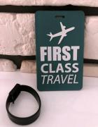 Zawieszka identyfikator adresownik do bagażu walizki First Clas...