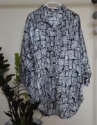 Koszula oversize vintage srebrna