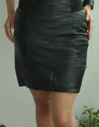 Czarna spódnica ze skóry naturalnej czarna skórzana spódnica...