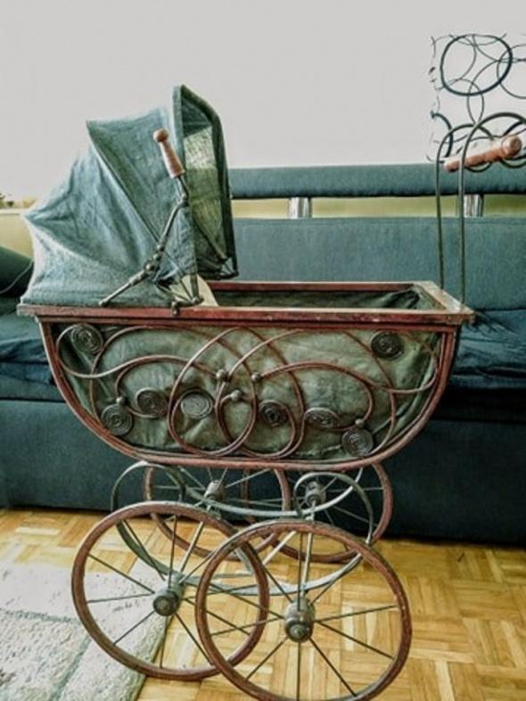 Zabawki Retro wózek dla lalek Austria