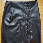 Czarna spódniczka z poliestru