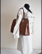 Duża brązowa torba damska mieści A4 pojemna...