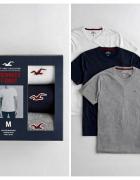HOLLISTER 3 PACK zestaw prezentowy 3x T Shirt LXL NOWE WAWA GIF...