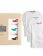 HOLLISTER 3 PACK L zestaw prezentowy 3 x T Shirt biały NOWE WAW...