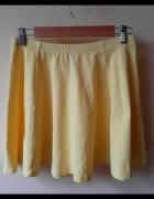 Żółta spódniczka rozkloszowana z koła M...