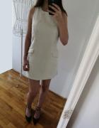 Glamorous Petit wełniana sukienka żakiet mini z guzikami chanel...