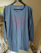 Koszula nocna szara Carry S długi rękaw tunika piżama...