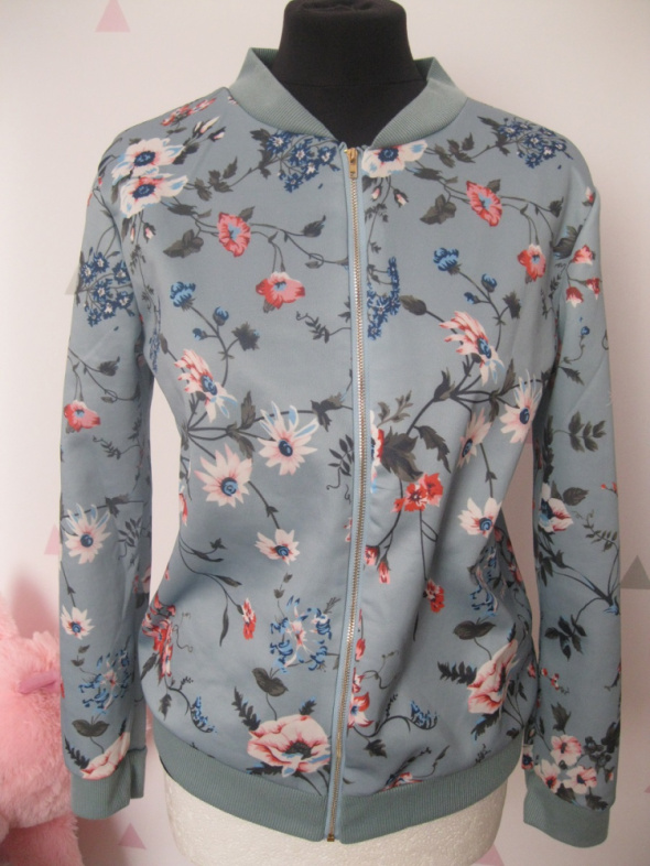 bluza bomber M kwiaty