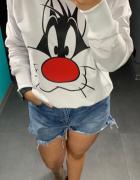 Bluza damska z nadrukiem S i XL...