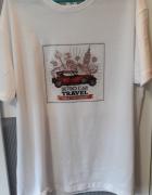 Koszulki z nagrukiem białe bawełniane...