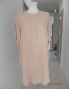 Sukienka Zara w Modnym Stylu Safari Beżowa Nowa z Metką L...