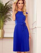 LILA Plisowana sukienka krótki rękaw CHABROWA S M L XL...