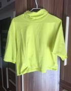 Golf bluza crop top neonowy cropp L nowy limonkowy zielony...