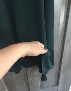 Butelkowa zieleń asymetryczna sukienka H&M...