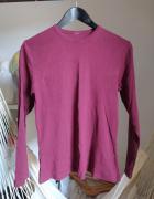 Bordowa bluzka z długim rękawem 38 M burgund