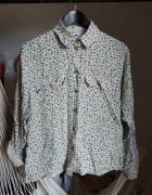 Koszula kwiaty 40 L vintage wiskoza kwiatki beżowa...