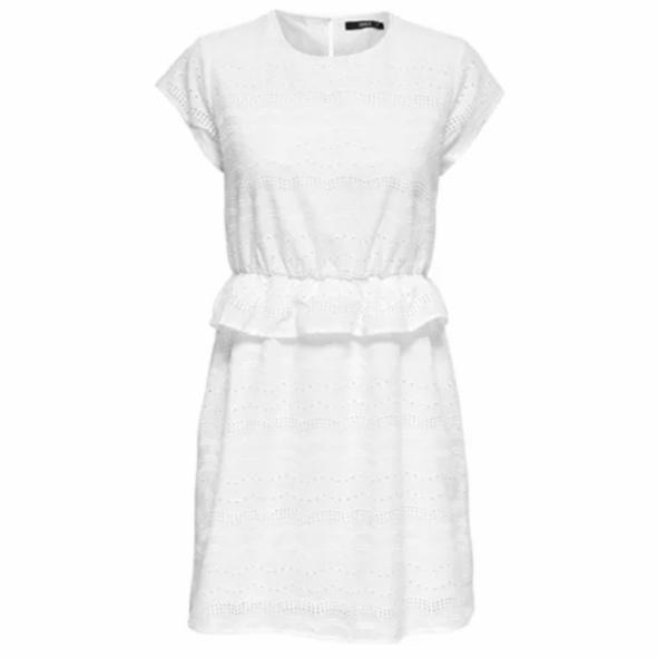 Biała sukienka ażurowa boho mini nowa Only...