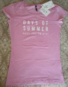 Sinsay XS koszulka nowa różowa