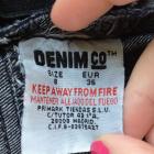 Spodenki Denim Co Jeansowe spodenki szorty czarne z brokatem cekinami XS S 36 galaxy diy hand made