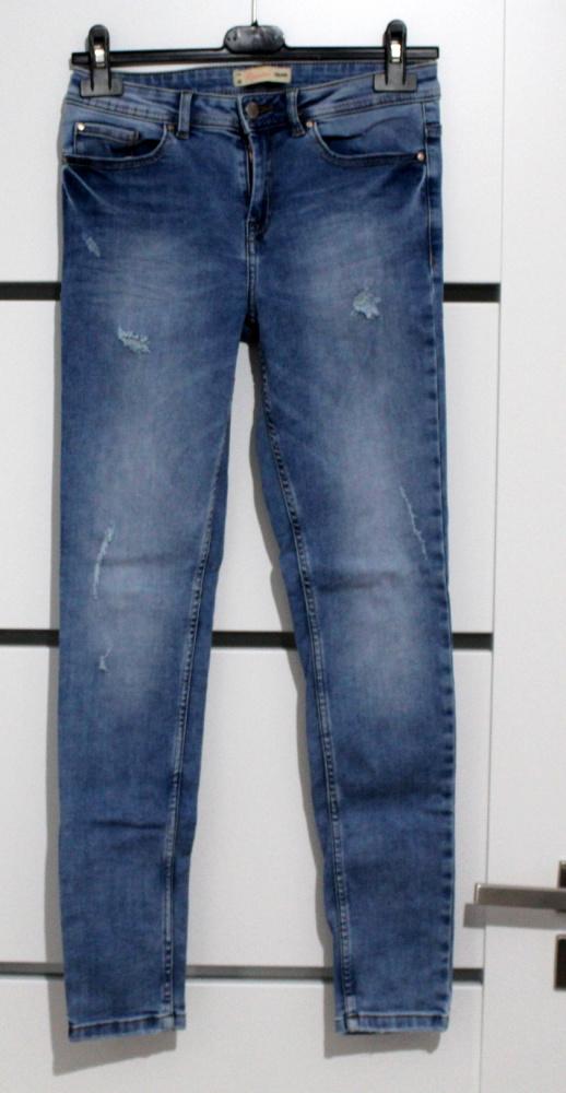 Spodnie Cropp jeansy marmurki