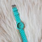 Zegarek Damski złoty miętowy GENEVA jelly watch