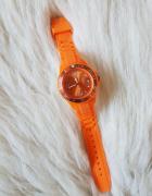 Pomarańczowy zegarek quartz jelly...