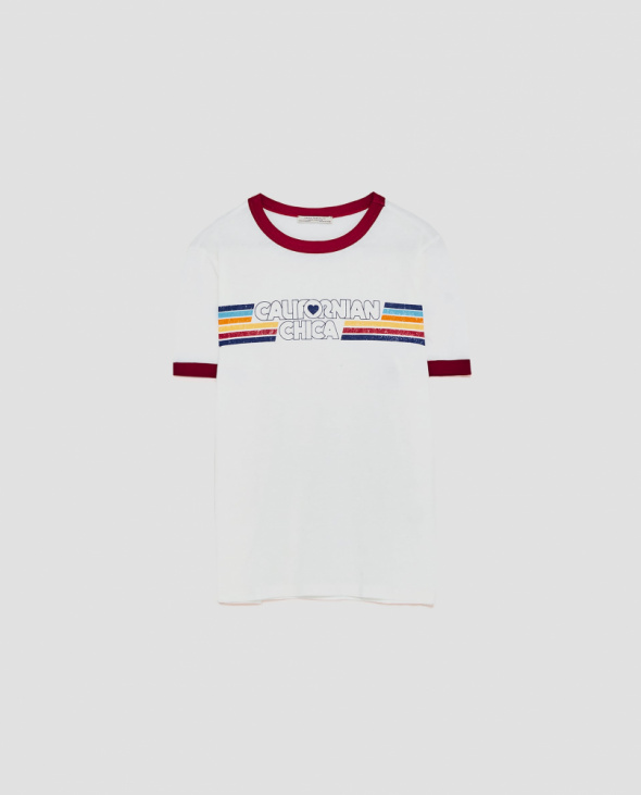 T-shirt Zara California Chica