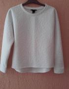 Bluzka biała tłoczona H&M xs...