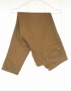 Proste spodnie H&M 46 3XL zielone zgniła zieleń wojskowa rurki ...