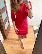 Pretty Girl sukienka bordowa ze stójką elegancka L XL...