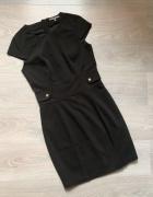 Mint&berry klasyczna czarna sukienka zip ołówkowa M