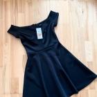 Reserved nowa czarna rozkloszowana sukienka sexy imprezowa xs