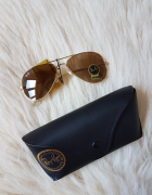 Ray Ban RB3025 Aviator Sunglasses Red Arista Frame Crystal Brow...