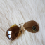 Ray Ban RB3025 Aviator Sunglasses Red Arista Frame Crystal Brown