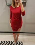 Asymetryczna sukienka czerwona