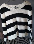 Sweter w paski h&m...