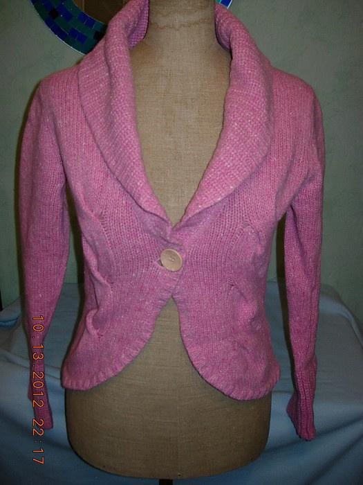 Swetry Śliczny kardigan od Esprit pudrowy róż M