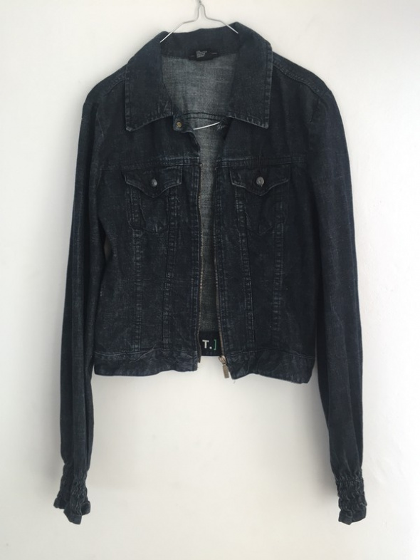 jeansowa kurtka diesel ciemny jeans