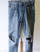 Spodnie Boyfriend 25 32 Jeans Dziury XS 34 Dżinsy...